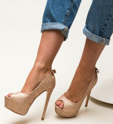 Pantofi Huda Aurii
