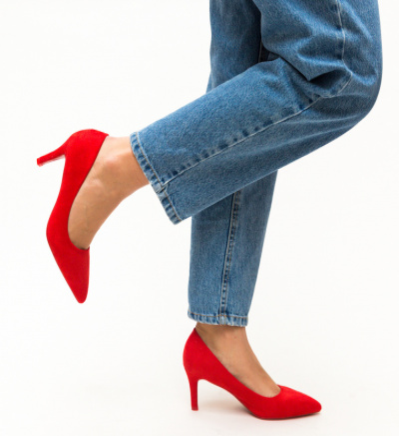 Pantofi Vargas Rosii