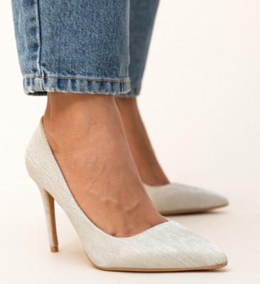Pantofi Rotiform Argintii