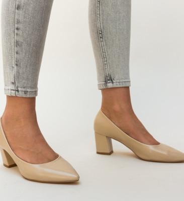 Pantofi Carl Bej