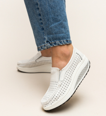 Pantofi Casual Bicaz Albi