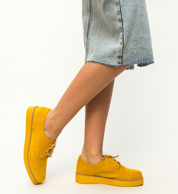 Pantofi Casual Burgas Galbeni