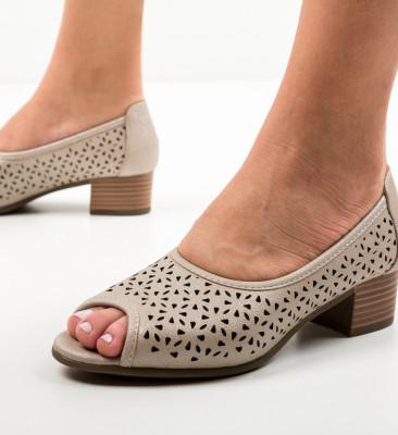 Pantofi Casual Clog Bej