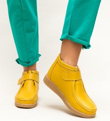 Pantofi Casual Debir Galbeni 2