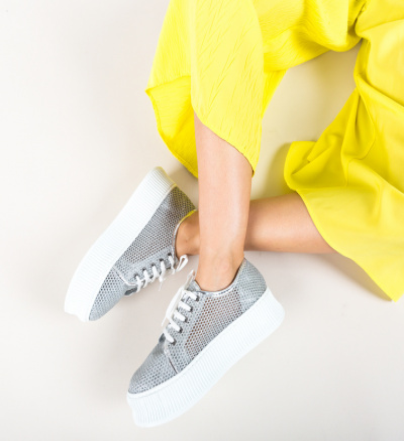 Pantofi Casual Doheris Argintii