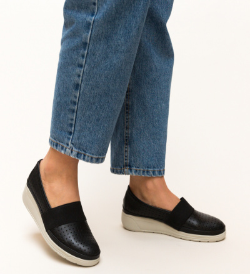 Pantofi Casual Foliande Negri