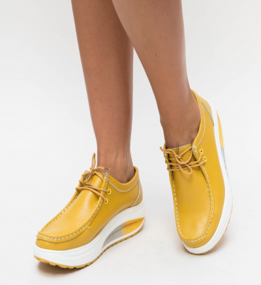 Pantofi Casual Heliade Galbeni 2
