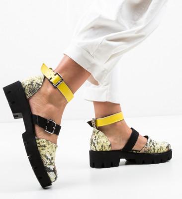 Pantofi Casual Jailala Galbeni
