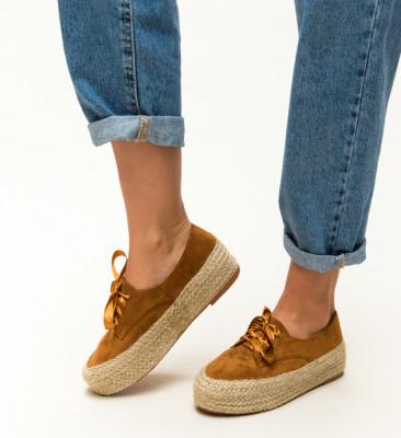 Pantofi Casual Kiran Camel