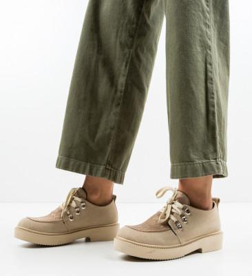 Pantofi Casual Squban Bej