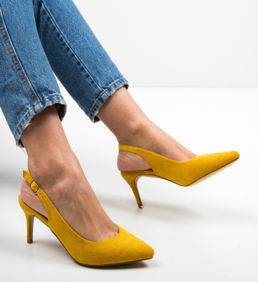 Pantofi Chyna Galbeni
