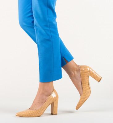 Pantofi Cocodil Bej