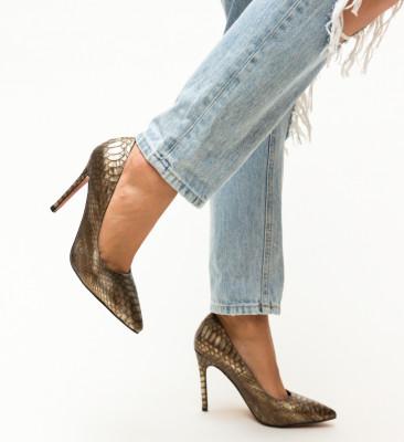 Pantofi Dustin Aurii