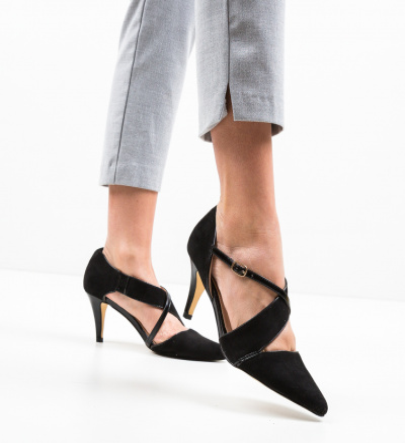 Pantofi Fecob Negri