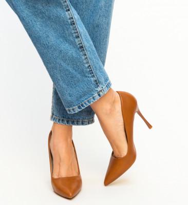 Pantofi Franco Camel
