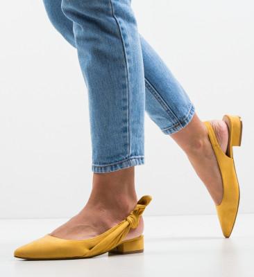 Pantofi Rhona Galbeni