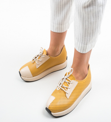 Pantofi Sport Fischli Galbeni