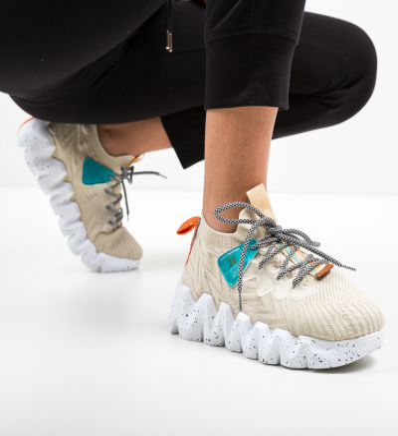 Pantofi Sport Greleko Bej