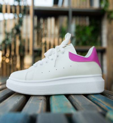 Pantofi Sport Vernona Albi-Fuchsia