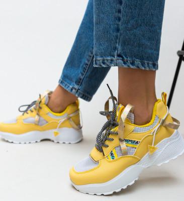Pantofi Sport Vishal Galbeni