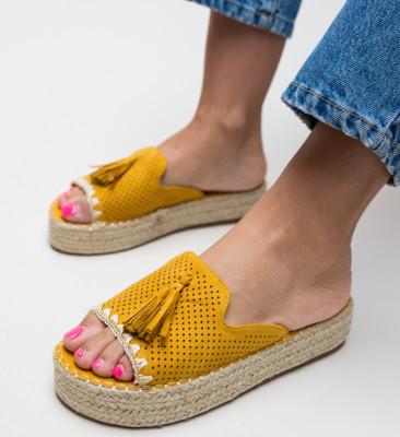 Papuci Cerza Galbeni