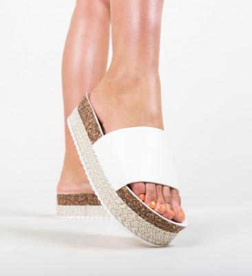 Papuci Draper Albi