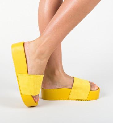 Papuci Escar Galbeni