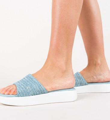 Papuci Fino Albastri