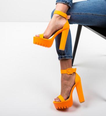 Sandale Asmaa Portocalii Neon