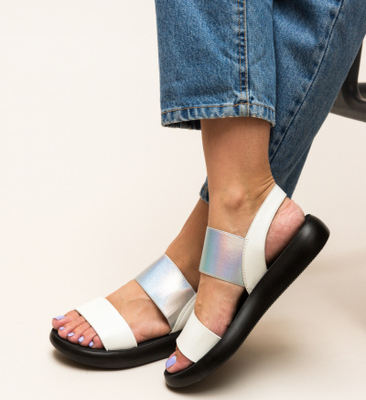 Sandale Cain Albe