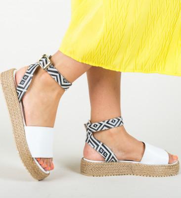 Sandale Folclor Albe