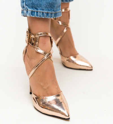 Pantofi Bruno Roze