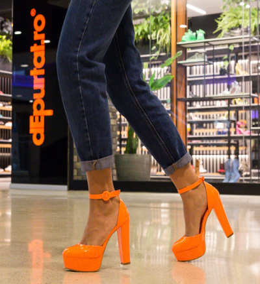 Pantofi Atkins Portocalii Neon