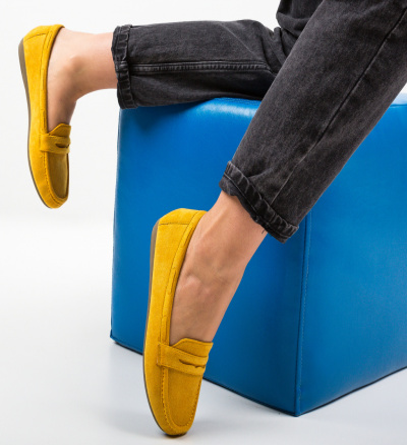 Pantofi Casual Amiq Galbeni
