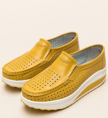 Pantofi Casual Bicaz Galbeni