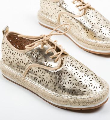 Pantofi Casual Cromos Aurii