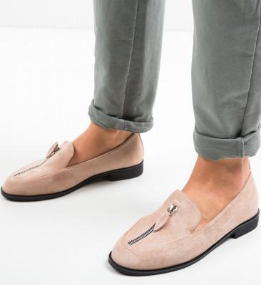 Pantofi Casual Frappe Nude
