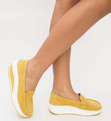 Pantofi Casual Isla Galbeni