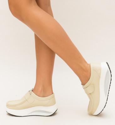 Pantofi Casual Juko Bej