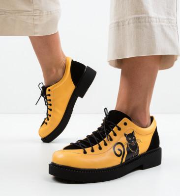 Pantofi Casual Kitty Galbeni