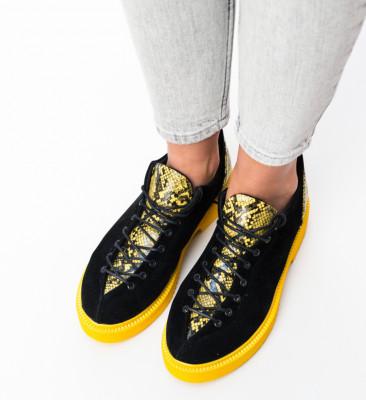 Pantofi Casual Lukano Galbeni