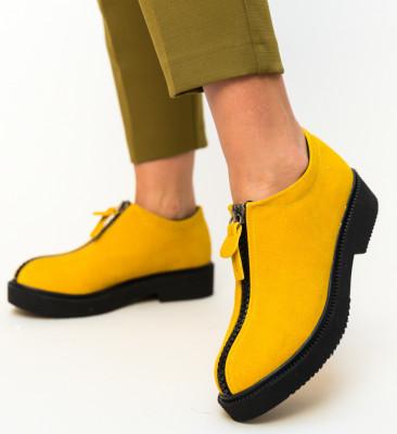 Pantofi Casual Lukoni Galbeni 2