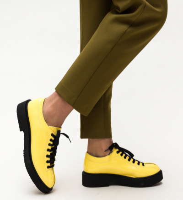 Pantofi Casual Lukos Galbeni