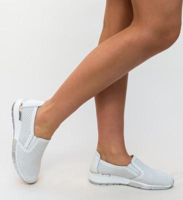 Pantofi Casual Pufine Albi