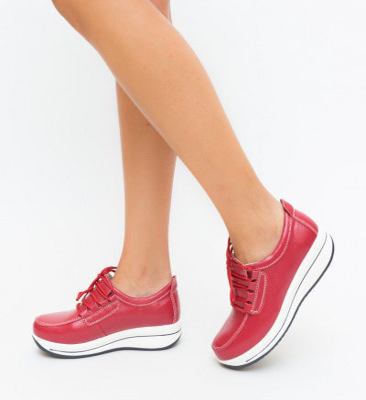 Pantofi Casual Ronto Rosii