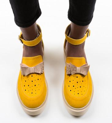 Pantofi Casual Yertup Galbeni