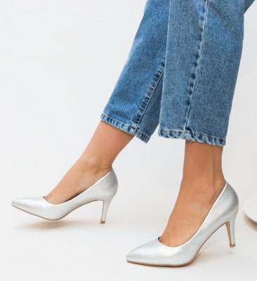 Pantofi Cheloo Argintii