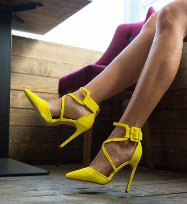 Pantofi Cillia Galbeni