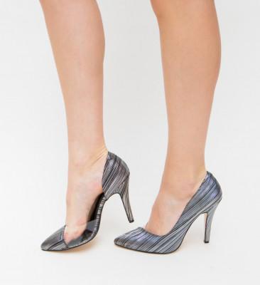 Pantofi Eman Argintii