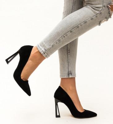Pantofi Floral Negri 2